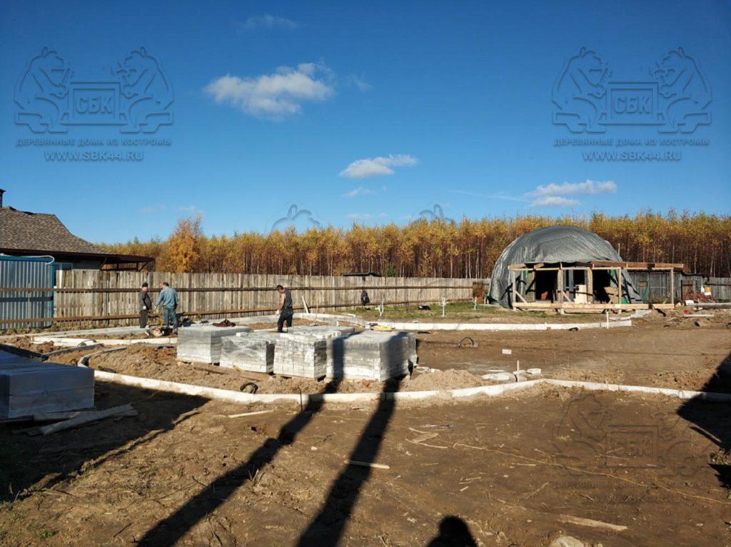 Благоустройство участка у купольного дома Добросфера z - 8 в Костроме (фото 9)
