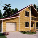 Проект дома из бруса в 13,5 х 9 м «Первый» - с гаражом (фото) - (2)