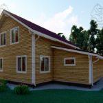 Проект дома из бруса в 13,5 х 9 м «Первый» - с гаражом (фото) - (3)