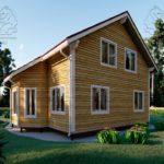 Проект дома из бруса в 13,5 х 9 м «Первый» - с гаражом (фото) - (4)