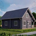 Проект дома из бруса в чашу 10 х 8 м «Романов» - на две семьи, для коттеджных поселков, для баз отдыха (3)