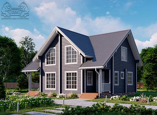 Проект дома из бруса в чашу 10 х 8 м «Романов» - на две семьи, для коттеджных поселков, для баз отдыха - (обложка)