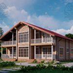 Проект дома из бруса в чашу 12 х 11,5 м «Семейный» (2)