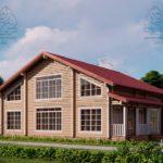 Проект дома из бруса в чашу 12 х 11,5 м «Семейный» (4)
