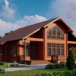 Проект дома из бруса в чашу 16 х 16 м «Гудвин» - со вторым светом (1)