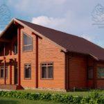 Проект дома из бруса в чашу 16 х 16 м «Гудвин» - со вторым светом (4)