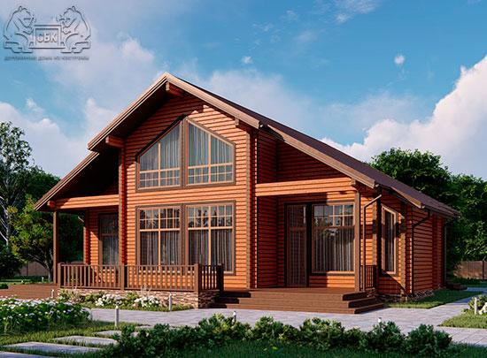 Проект дома из бруса в чашу 16 х 16 м «Гудвин» - со вторым светом (обложка)