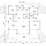 Проект дома из бруса в чашу 16 х 16 м «Гудвин» - со вторым светом - план 1-го этажа