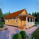 Проект одноэтажного дома из бруса 6 х 9 м «Смирновка» - с террасой фото (1)