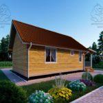 Проект одноэтажного дома из бруса 6 х 9 м «Смирновка» - с террасой фото (2)
