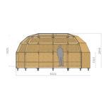 удлиненный каркас купольного дома z4l