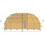 удлиненный каркас купольного дома z6l