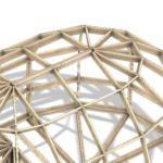 удлиненный высокий каркас купольного дома z6hl