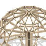 высокий купольный каркас 2 этажа