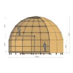 высокий купольный каркас z10h 2 этажа