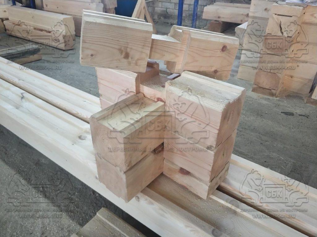 Особенности производства домокомплектов из профилированного бруса в ЧАШУ - зауголки