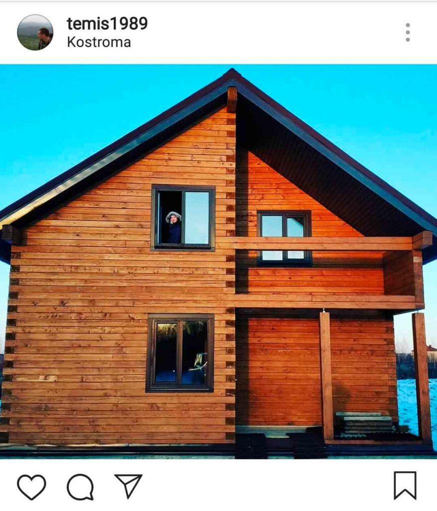 Дом из профилированного бруса - лес зимней заготовки