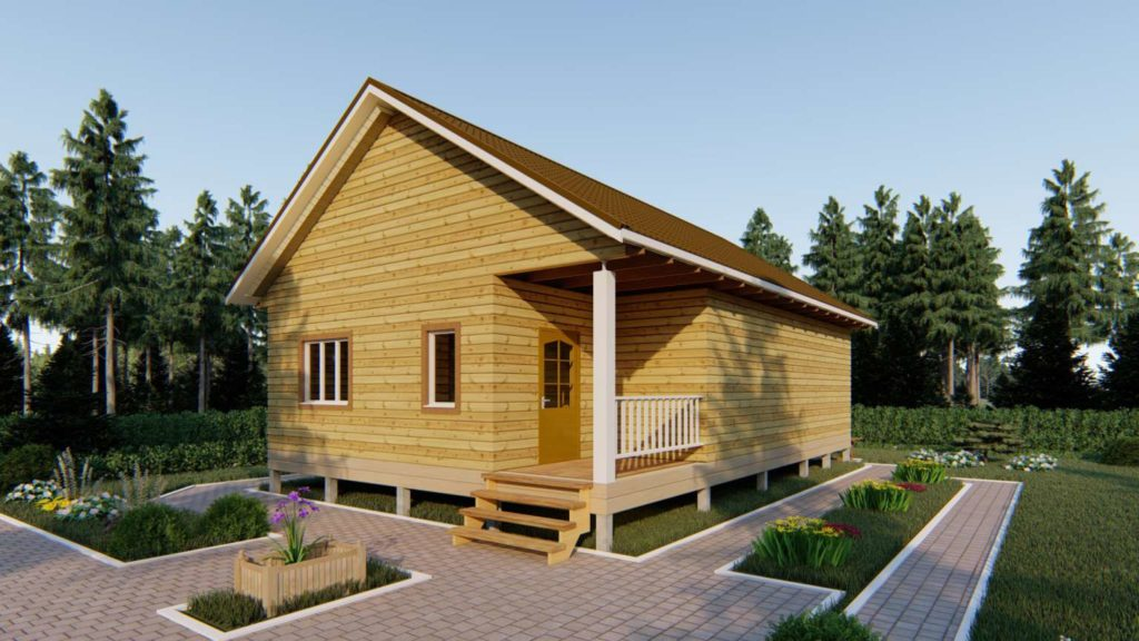 Одноэтажный дом из бруса 8 х 12 (2)