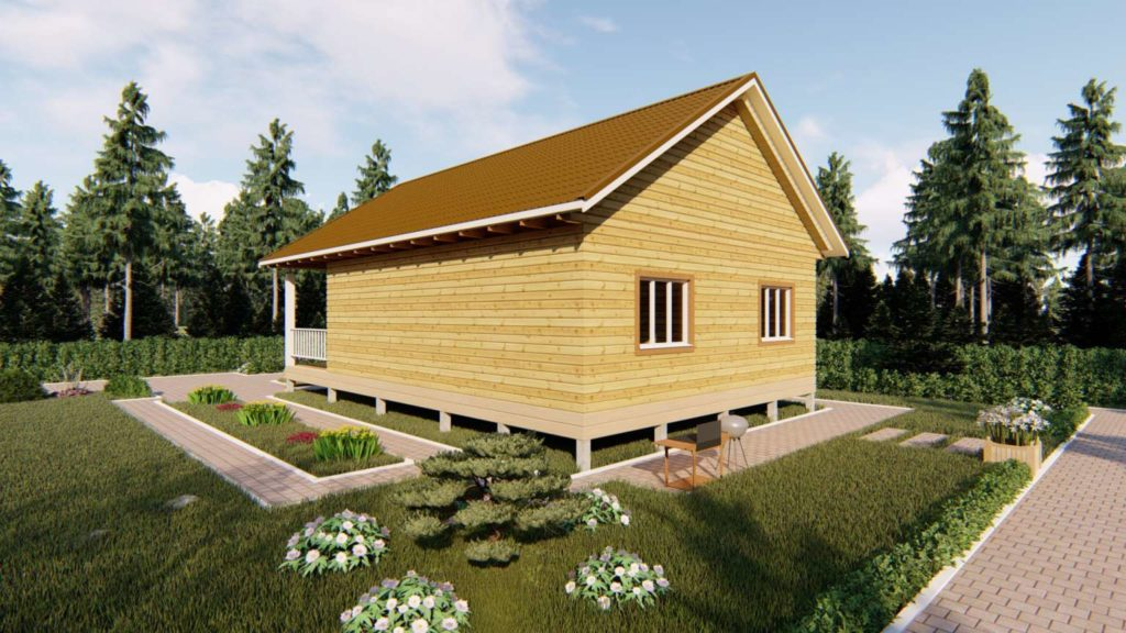Одноэтажный дом из бруса 8 х 12 (3)