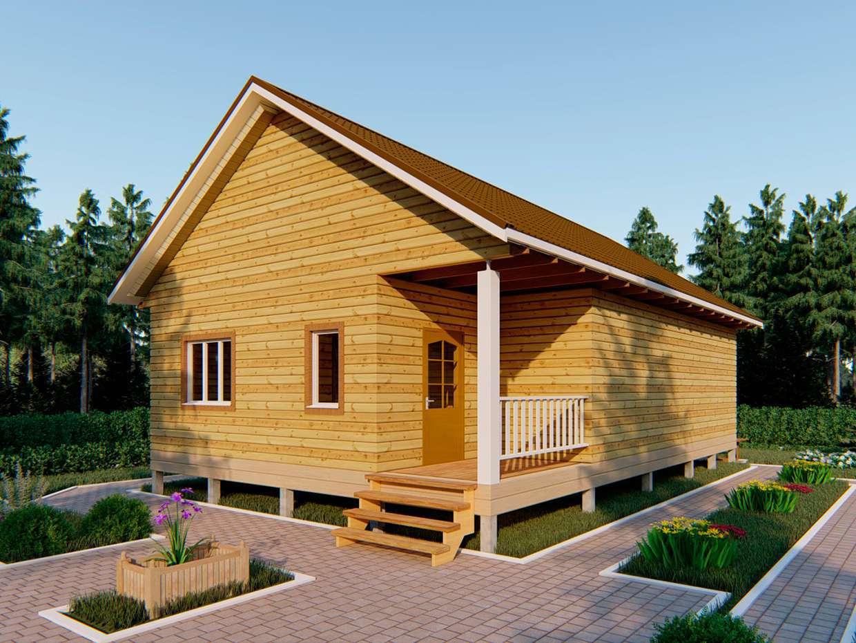 Одноэтажный дом из бруса 8 х 12 (обложка)
