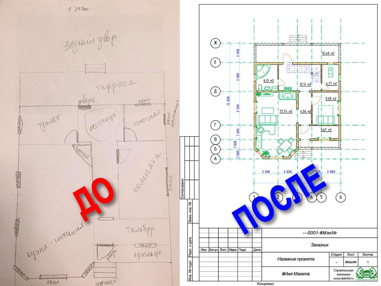 Индивидуальный проект дома из бруса - СБК Кострома