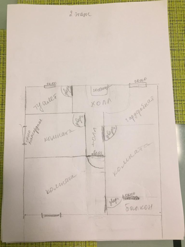 Планировка для индивидуального проекта 2эт - СБК Кострома
