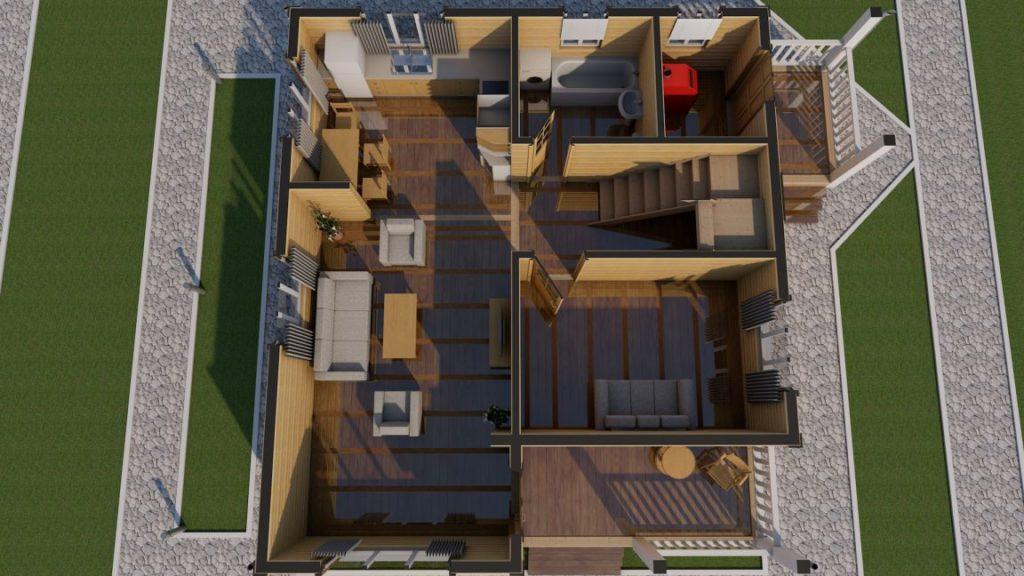 Строительная компания домов из бруса -эскизный проект - СБК 44 (1)