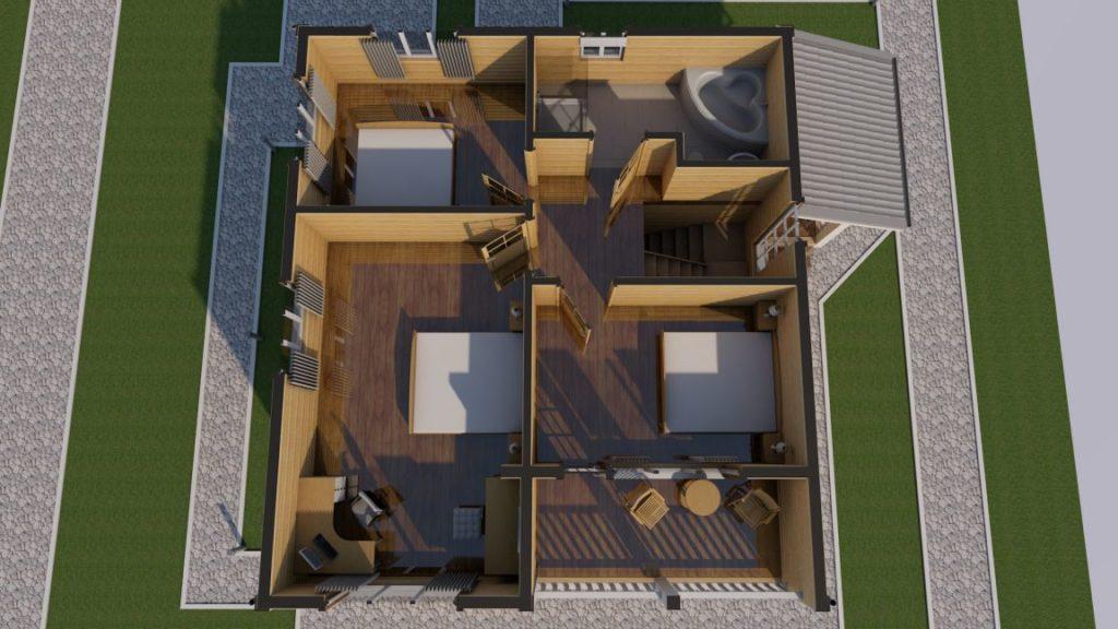 Строительная компания домов из бруса -эскизный проект - СБК 44 (2)