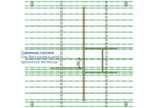 Стропильная система дома из бруса СБК Кострома