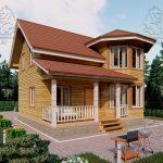 Проект дома из бруса 9 на 8 «Шуя» с эркером 1,5 этажа (2)