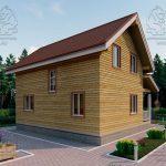 Проект дома из бруса 9 на 8 «Шуя» с эркером 1,5 этажа (3)
