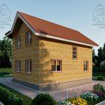 Проект дома из бруса 9 на 8 «Шуя» с эркером 1,5 этажа (4)