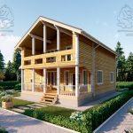 Проект двухэтажного дома из бруса 12 на 12 «Будихино» (1)