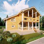 Проект двухэтажного дома из бруса 12 на 12 «Будихино» (2)