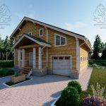 Проект двухэтажного дома из бруса 12 на 12 «Будихино» (3)