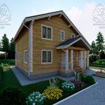 Проект двухэтажного дома из бруса 12 на 12 «Будихино» (4)