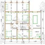 Проект двухэтажного дома из бруса 12 на 12 «Будихино» -План 2-го этажа