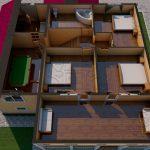 Проект двухэтажного дома из бруса 12 на 12 «Будихино» - планировка 2