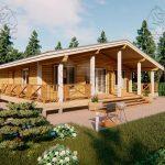 Проект одноэтажного дома из бруса 11 на 11 «Шале» (2)