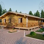 Проект одноэтажного дома из бруса 11 на 11 «Шале» (3)