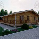 Проект одноэтажного дома из бруса 11 на 11 «Шале» (4)