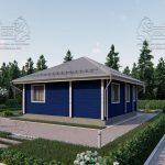 Проект одноэтажного дома из бруса в чашу «Зеленоград» (1)