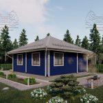 Проект одноэтажного дома из бруса в чашу «Зеленоград» (2)