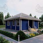 Проект одноэтажного дома из бруса в чашу «Зеленоград» (4)