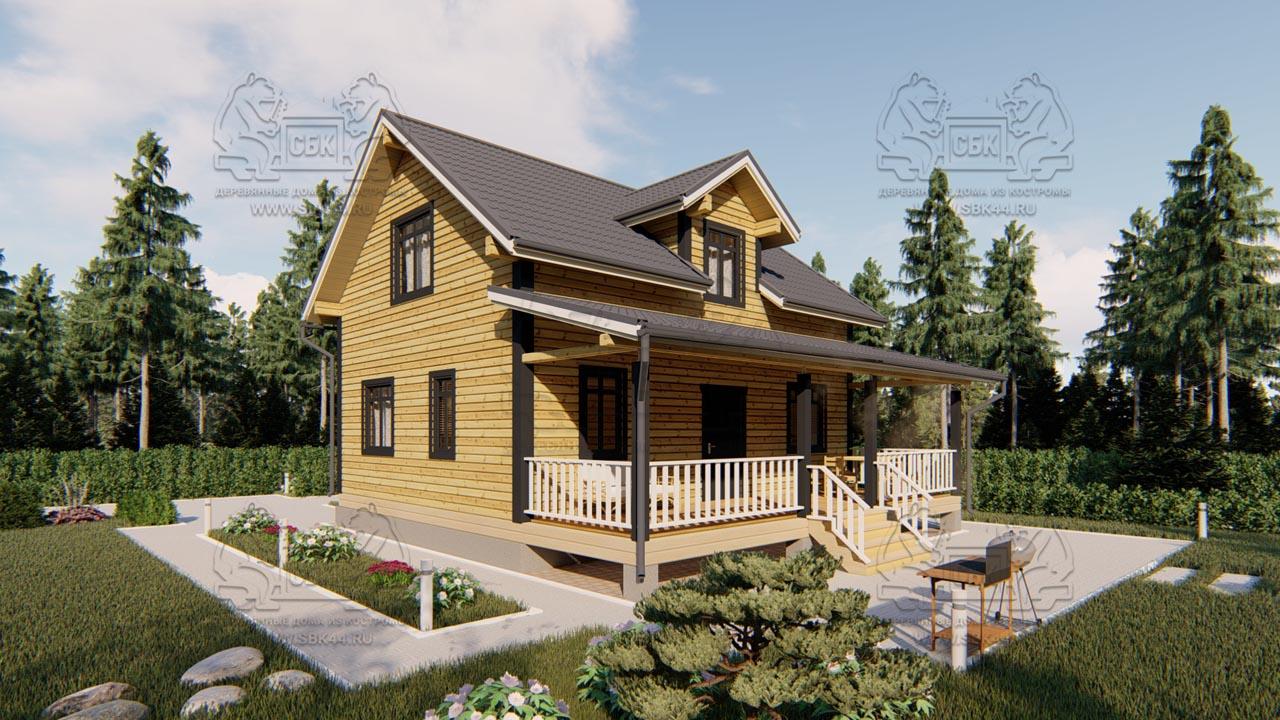 Дом из бруса 1.5 этажа - Владимировка (1)