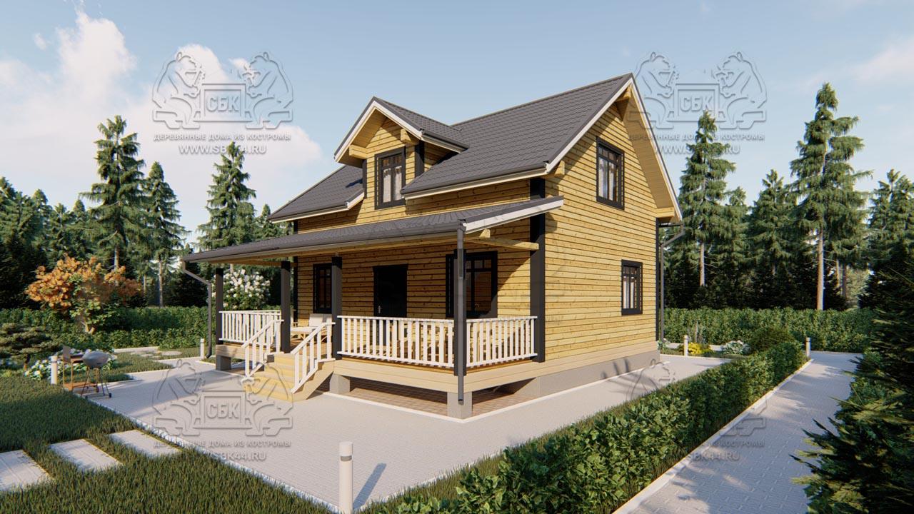 Дом из бруса 1.5 этажа - Владимировка (2)