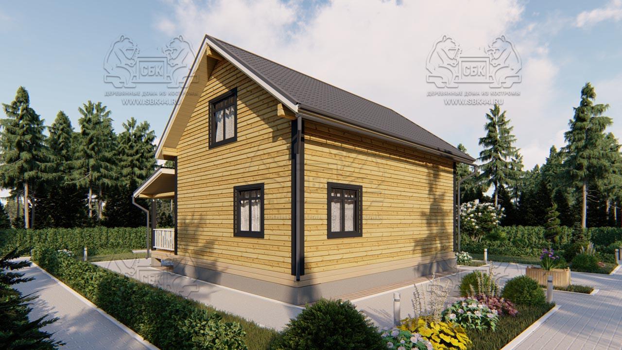 Дом из бруса 1.5 этажа - Владимировка (3)