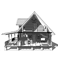 Дом из бруса с мансардой - проекты