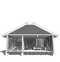 Дом из бруса в 1 этаж - проекты