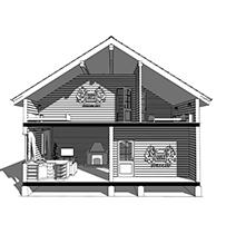 Дом из бруса в 1,5 этажа - проекты